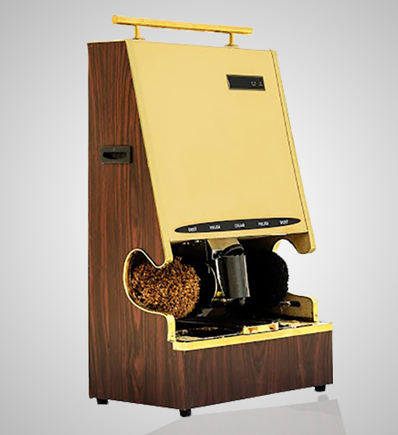 Wooden-Coin Operated Shoe Shining Machine Image